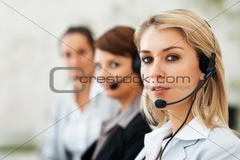 Beautiful customer service representative