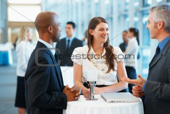 Friendly business discussion