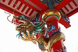 colorful dragon china statue