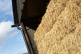 Hay Bales Stored In Barn