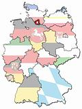 Hamburg and other german provinces(states)