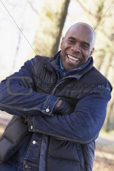 Man On Autumn Walk
