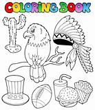 Coloring book American theme images