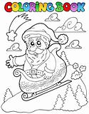 Coloring book Christmas topic 6