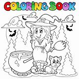 Coloring book Halloween character 1