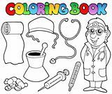 Coloring book medical collection