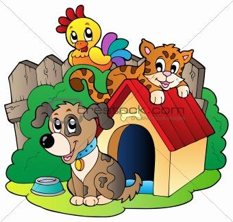 Three domestic animals