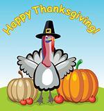 turkey, pumpkins and apples