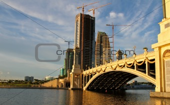 bridge and construction
