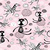 texture of the cats and flying zebras