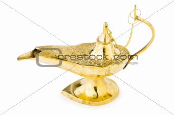 Ancient lamp isolated on the white