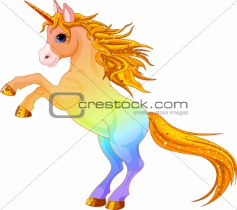 Rainbow colored unicorn