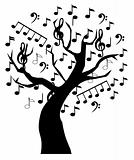 Music tree with notes