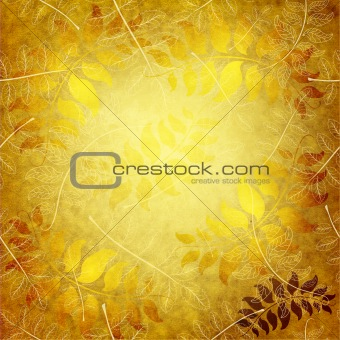 Paper with gold leaves