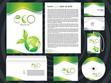 abstract eco based corporate design template
