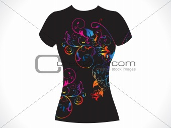 abstract  t-shirt floral design