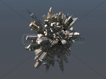 City sphere from future