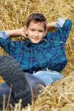 Boy with straw