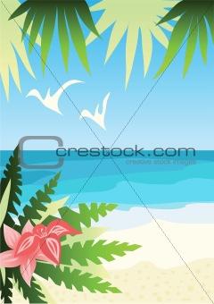 Bright sunny beach
