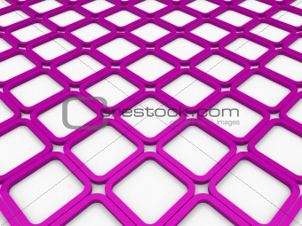 3d cube purple square background