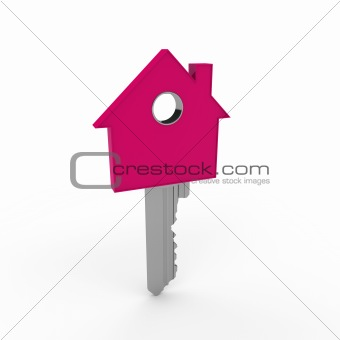 3d home key pink