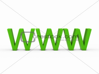 3d www green