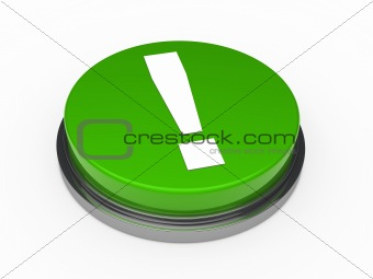 3d button green exclamation mark