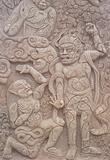 Buddha art on wall