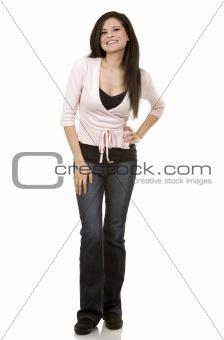 casual brunette