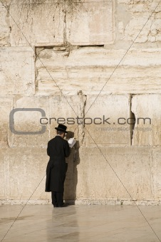 Prayers near Jerusalem wall