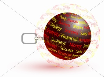 Marketing abstract globe