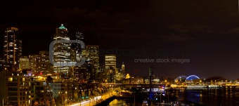 Seattle Washington Skyline at Night