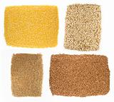 Oatmeal, buckwheat, millet, corn