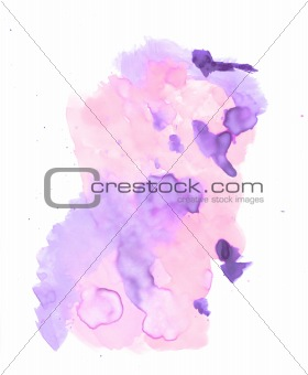 Water color paint on a white background
