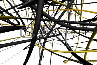 Abstract 3d lines