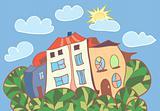Little cartoon houses