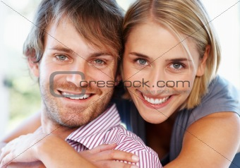 Loving couple smiling together