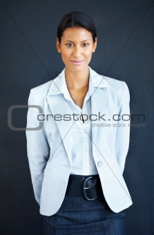 Serious female executive