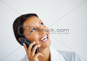 Happy Business woman on phone call