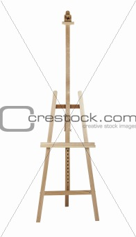 Artist easel isolated