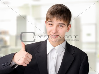 teenager with thumb up