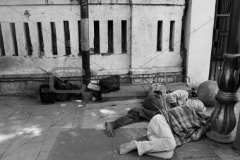 sleep on the street.