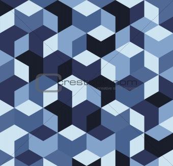Blue 3D cubes