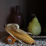 Still life with Indian corn.