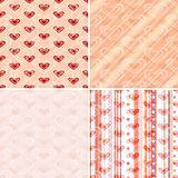 Set seamless valentine pattern