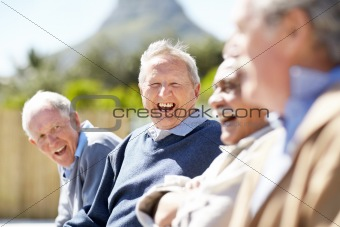 Group of senior people enjoying themselves - Outdoor