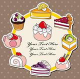 cartoon cake card