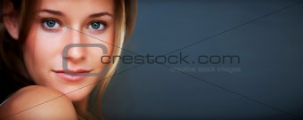 Smart young female model posing confidently - Copyspace