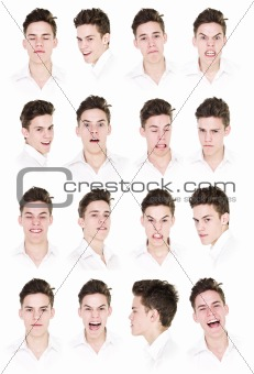 16 portraits of a man