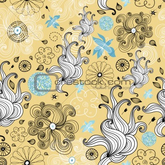 abstract and floral design